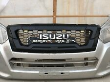 Black Front Grille Grill Chrome Logo Leds For Isuzu D-Max Dmax Pickup 2016 2018