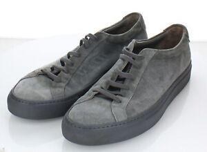 54-59 $416 Men's Sz 44 M Common Projects Low Achilles Suede Lace Up Sneaker