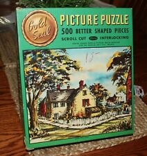 Whitman Gold Seal Jigsaw puzzle 1950's Harbor View by Travis