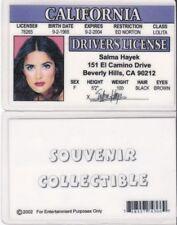 Salma Hayek California drivers license identification id i.d card driver's