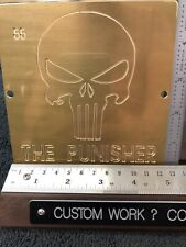 Punisher Solid Brass Master Engraving Plate For New Hermes Font Tray