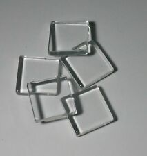 10  X 25MM SQUARE  FLAT  GLASS CABOCHONS
