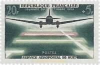 EBS France 1959 Night Airmail - Service Aéropostal de Nuit YT 1196 MNH**