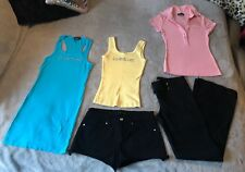 Bebe Lot of 5 Casual Tanks, Shirt, Shorts & Linen Pants Size XS/S 2/26