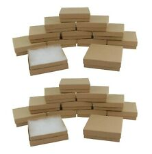 24 Pcs Kraft Brown Cardboard Box Jewellery Necklace Pendant Earring Gift Boxes