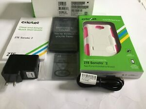 ZTE Sonata 2 Smartphone Cricket Black Android Phone With FREE Screen Protection.