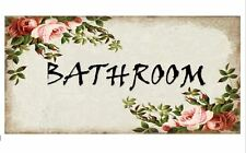 PERSONALISED Floral Handmade Plaque/Door/Wall Sign - Shabby Chic- LAMINATED