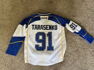 St. Louis Blues Tarasenko Reebok white hockey jersey 48