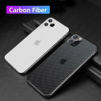 For iPhone 11 Pro Max XS XR 6 7 8 Carbon Fiber Soft Back Protector Film Sticker