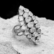 Vintage 2.59cts Natural Antique Cut Diamond Silver Gorgeous Wedding Ring Jewelry
