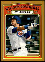 Willson Contreras 2021 Topps Heritage In Action 5x7 Gold Chicago Cubs /10
