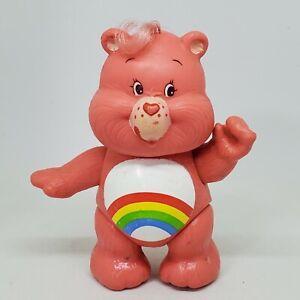 Vintage Care Bears Poseable Figure Cheer Bear 1983 Kenner Rainbow