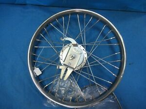 """20"""" Bicycle Worksman Cycle Front Drum Brake Heavy Duty Chrome Wheel -1 Only- New"""