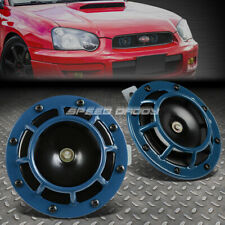 SUPER LOUD BLAST TONE GRILL MOUNT 12V ELECTRIC COMPACT CAR HORN 335HZ/400HZ BLUE
