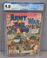 OUR ARMY AT WAR #113 (Wild Man & Jackie Johnson 1st app) CGC 9.0 DC Comics 1961