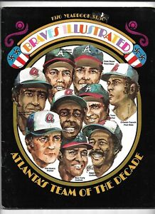 1976 Atlanta Braves Official Team Yearbook---Team Of The Decade   VG