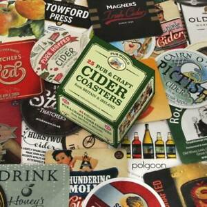 Pub and Craft Cider Coasters/ Beer Mats Set of 25 (pwm)
