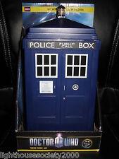 Doctor Who Tardis Blue Lights Sounds Effect Police Box Tardis Cookie Jar BBC !