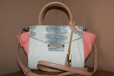 Vince Camuto Handbag/Purse/Satchel/Cross body Julia Small White/Papaya Punch NWT