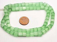 Strang Mop Beads Mother of Pearl plume perles de verre de Bohême vert