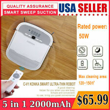 5In1 Smart Robot Vacuum Cleaner Auto Cleaning Microfiber Mop Floor Sweeper clean