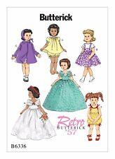 """Butterick Sewing pattern Dolls clothes Dresses Coat PJs Playsuit 18"""" 46cm B6336"""