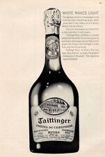 1964 Taittinger Brut French Champagne Vintage 1959 Bottle  PRINT AD