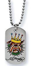 10 x Ed Hardy Jewellery Bulldog King, Dog Tag, Necklaces, JOB LOT x 10