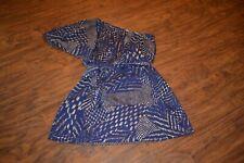 A29- Famosa Polyester One Shoulder Dress Size Medium