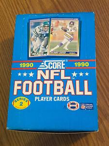 1990 Score Football Series 2 Wax Box 35 packs ,1 opened w/Elway /Montana