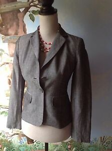 Ann Taylor Loft Petites Long Sleeve Light Gray Suit Jacket Blazer Size 0P