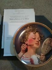 """Norman Rockwell collector's plate. """"Making Believe at the Mirror"""""""