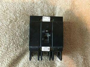 Cutler-Hammer 40 AMP 3 Pole Circuit Breaker GHB3040