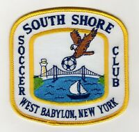 Vintage SOUTH SHORE WEST BABYLON NEW YORK SOCCER CLUB PATCH Long Island