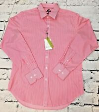 NWT Robert Graham FANN Classic Fit Size S Pink Striped Dress Shirt $198.00 MSRP