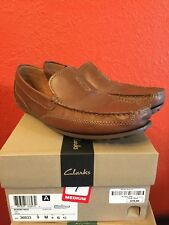 Mens Clarks Size 9M Brown Leather Driving Shoes
