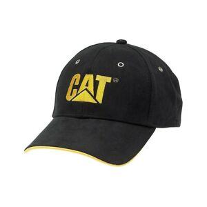 Hommes Caterpillar Trademark Casquette Baseball Daim Touché Ajustable 2 Couleurs