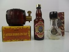 Vtg Avon Decanter Whiskey Barrel After shave on Tap Bath Brew Wild Country