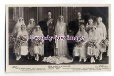 r1479 - Princess Mary & husband Lord Lascelles - Wedding Day Group - postcard