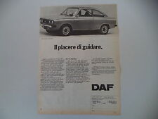 advertising Pubblicità 1973 DAF 66 MARATHON COUPE' 1300