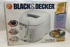 BLACK & DECKER FRYMATE DF200 Deep Fryer White Kitchen Cooking Appliance New