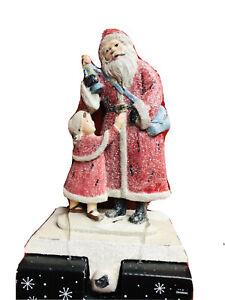 Frosted Santa Wz Children Christmas Stocking Holder