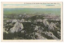PANORAMA of the NEEDLES from HARNEY PEAK  Black Hills South Dakota Postcard SD