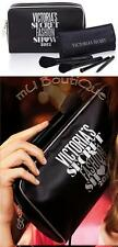 1 NEW VICTORIA SECRET THE OFFICIAL FASHION SHOW MAKEUP BLACK BAG BRUSH SET KIT