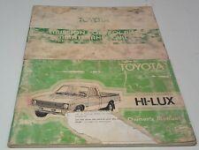 1978 TOYOTA HILUX  Owners Manual + Emission Control Handbook