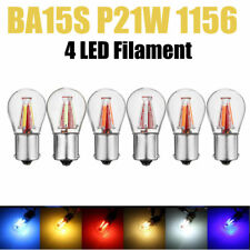 4 LED Filament BA15S 1156 P21W Backup Reverse Light Turn Signal Brake DRL Bulb K