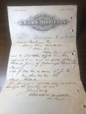 1883 Vintage Railway & Mining Supplies Letterhead