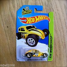2014 Hot Wheels CUSTOM VOLKSWAGEN BEETLE 247/250 HW WORKSHOP diecast Mattel MOON