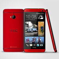 4.7'' HTC ONE M7 - 32GB - RED -  (Unlocked) Android Mobile Phone