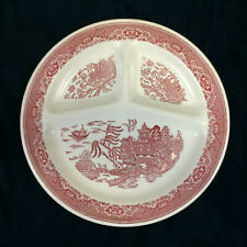 "Red Willow Wear Royal China USA 3 Section Divided Grill Plate 11 1/4"" Vintage"